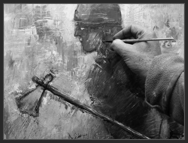 VIKINGOS-PINTAR-PINTANDO-PERSONAJES-HISTORICOS-FOTOS-ESTUDIO-ARTISTA-PINTOR-ERNEST DESCALS