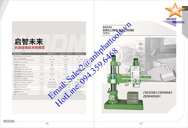 Máy Khoan Cần Cao Cấp Thương Hiệu WDDM 2.2kw - 4kw