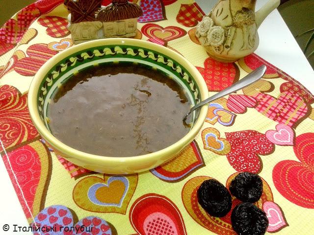 сливовий кисіль з чорносливу рецепт