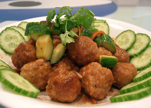 Chicken Meatballs with Sweet and Sour Sauce