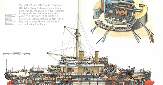 War of the Worlds' HMS Thunder Child (A Devastation class ship)
