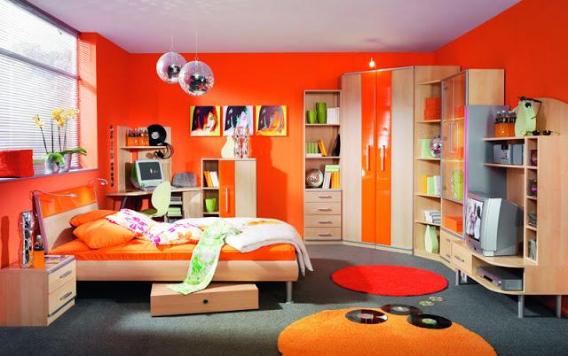 Quartos de criança na cor laranja ~ Decoração e Ideias  ~ Quarto Safari Verde E Laranja