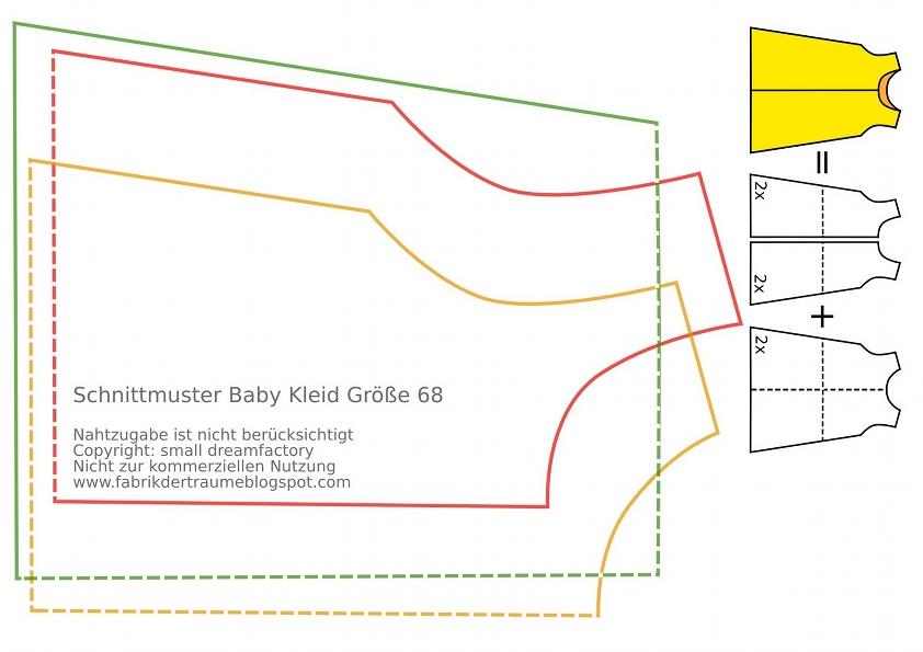Colorful Babykleid Schnittmuster Frei Elaboration - Decke Stricken ...