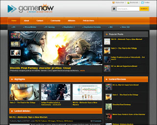 Game Now Free Blogger Template