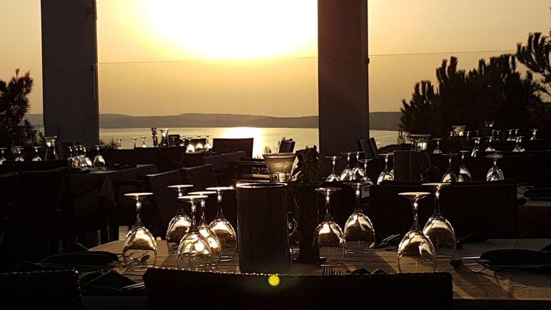 Sonnenuntergang im Restaurant Robinson Daidalos - westliche Südküste Kos