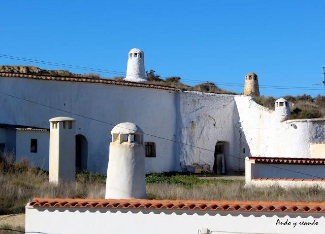 Barrio casa cuevas de Guadix