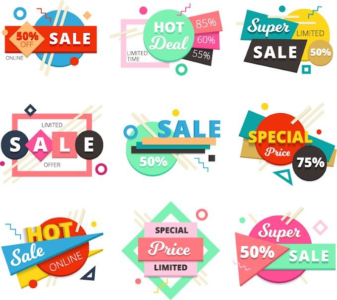 Creative special offer promotional label vector illustration
