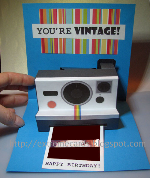 Polaroid Camera Pop Up Birthday Card