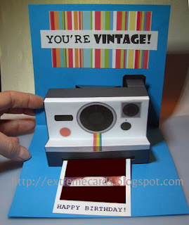 polaroid camera pop up card