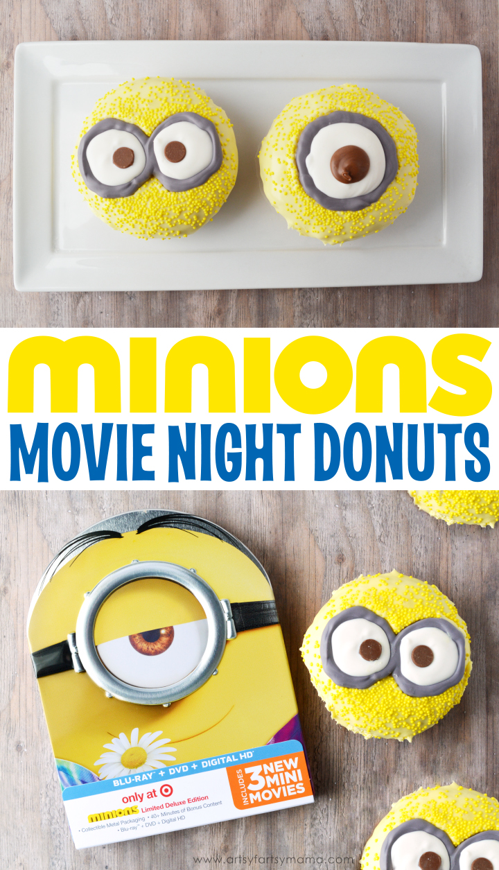 Minions Movie Night Donuts #MinionsMovieNight
