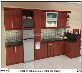 kitchen set mini bar minimalis spring