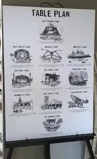 Wedding Table Plan based off sketches I did of Glastonbury