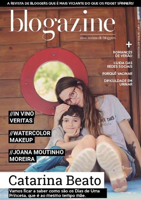 Revista Blogazine de Julho de 2017 com a autora do blog Dias de Uma Princesa