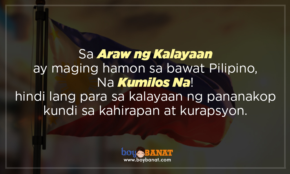 kalayaan slogan sample