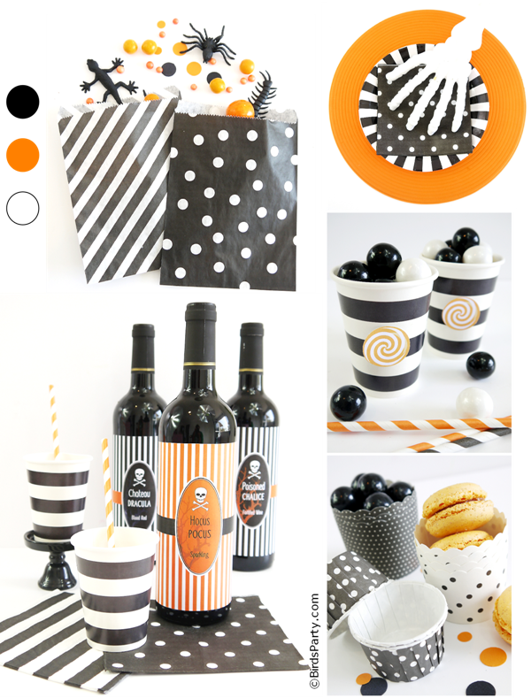 Halloween Party Printables and Party Ideas: Decor, Recipes and Crafts