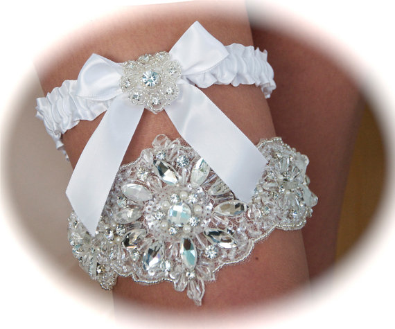 Wedding Garter Pictures: Bobka Baby And Bridal: Wedding Garters That Sparkle With Bling