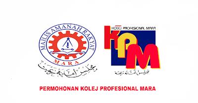 Permohonan Kolej Profesional MARA 2019 Online