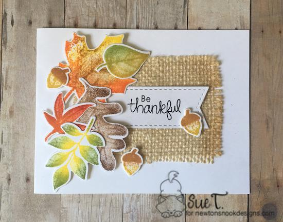 Be Thankful by Sue features Shades of Autumn and Autumn Newton by Newton's Nook Designs; #newtonsnook