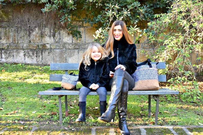 Look coordinato Mamma e Figlia con le borse Up and Up Family