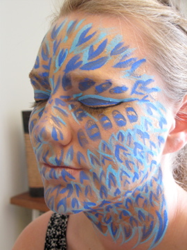 Hannah Yate Face Paint: Sea Creature experiment