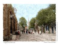 Ingekleurde foto Veghel hoofstraat
