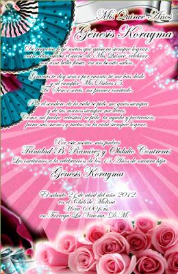 Invitación y Tarjeta Novedosa para tus 15 y 16 Años Rosa