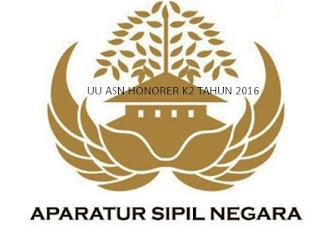 Info Penting Dokumen UU ASN Honorer K2 Dari DPR Tahun 2016