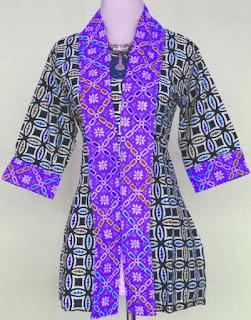 Model Baju Batik Kantor Wanita Berjilbab tampil mewah