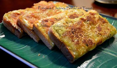 Potato Chutney Toast