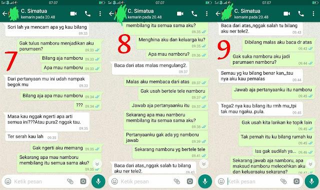 Inilah Screenshoot Chat WA Antara Calon Mertua dan Calon Mantu Yang Lagi Viral di Facebook