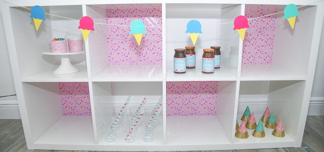 DIY Ice Cream Party Banner with Cricut by popular Party Planning blog The Celebration Stylist