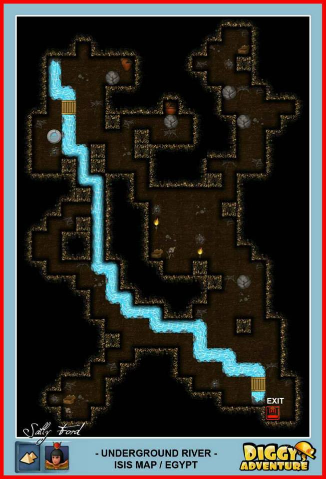 Diggy's Adventure Walkthrough: Egypt Isis / Underground River