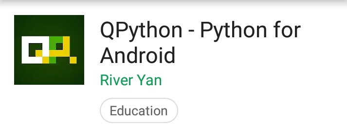 QPython: A programming app to run python on smartphone