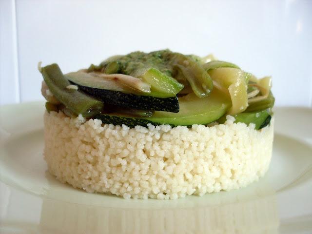 ensalada de cuscús y verduras