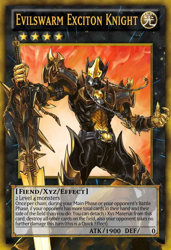 evilswarm exciton knight - Evilswarm Exciton Knight Legacy of the Valiant YuGiOh Online