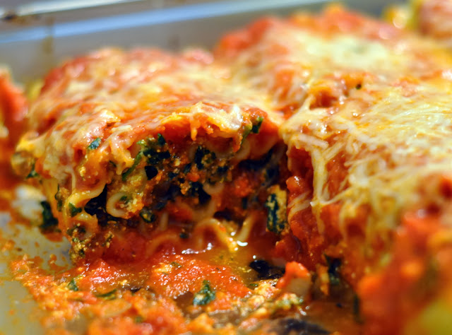Lasagna Rollups with Spinach and Portobello Mushrooms | Taste As You Go