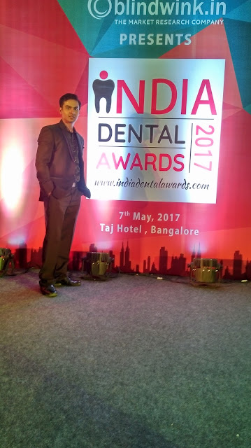India Dental Awards 2017 Banglore - (chief guest was Bollywood actress Soha Ali Khan) Dr. Sagar barkade got award for the 'best dental clinic in Mumbai'