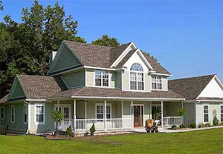 Casa residencial rural americana