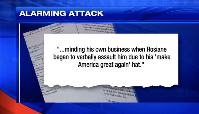 Woman assaults man wearing 'MAGA' hat at Mexican eatery, claims she's the victim, video shows