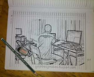 Sketsa Pensil Photoshop