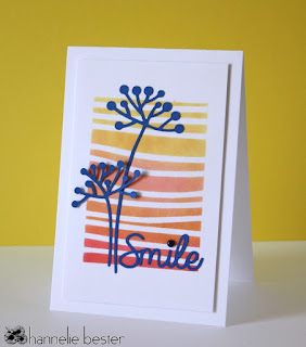 Smile card in Autumn colors