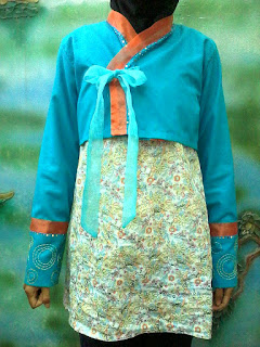 dress blouse berbentuk hanbok