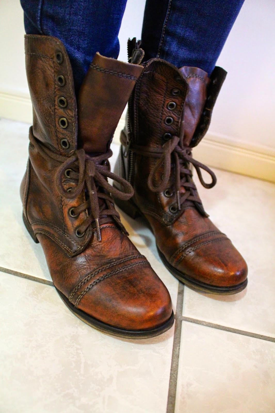 Brown Combat Boots For Women Outfits : Wonderful Brown ...