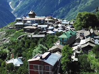 view of village kalpa at himachal pradesh