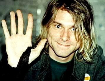 Foto de Kurt Cobain sonriendo