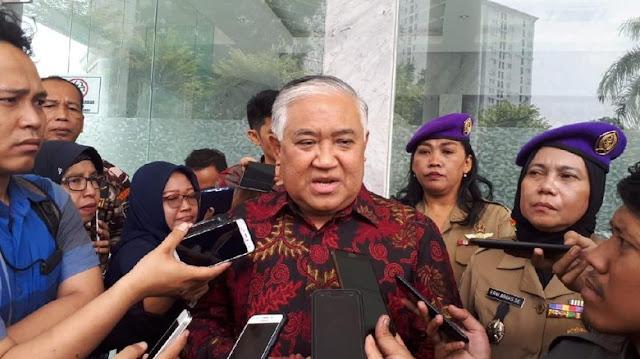 Din Syamsuddin Imbau Mar'uf Tak Bawa-bawa MUI saat Kampanye