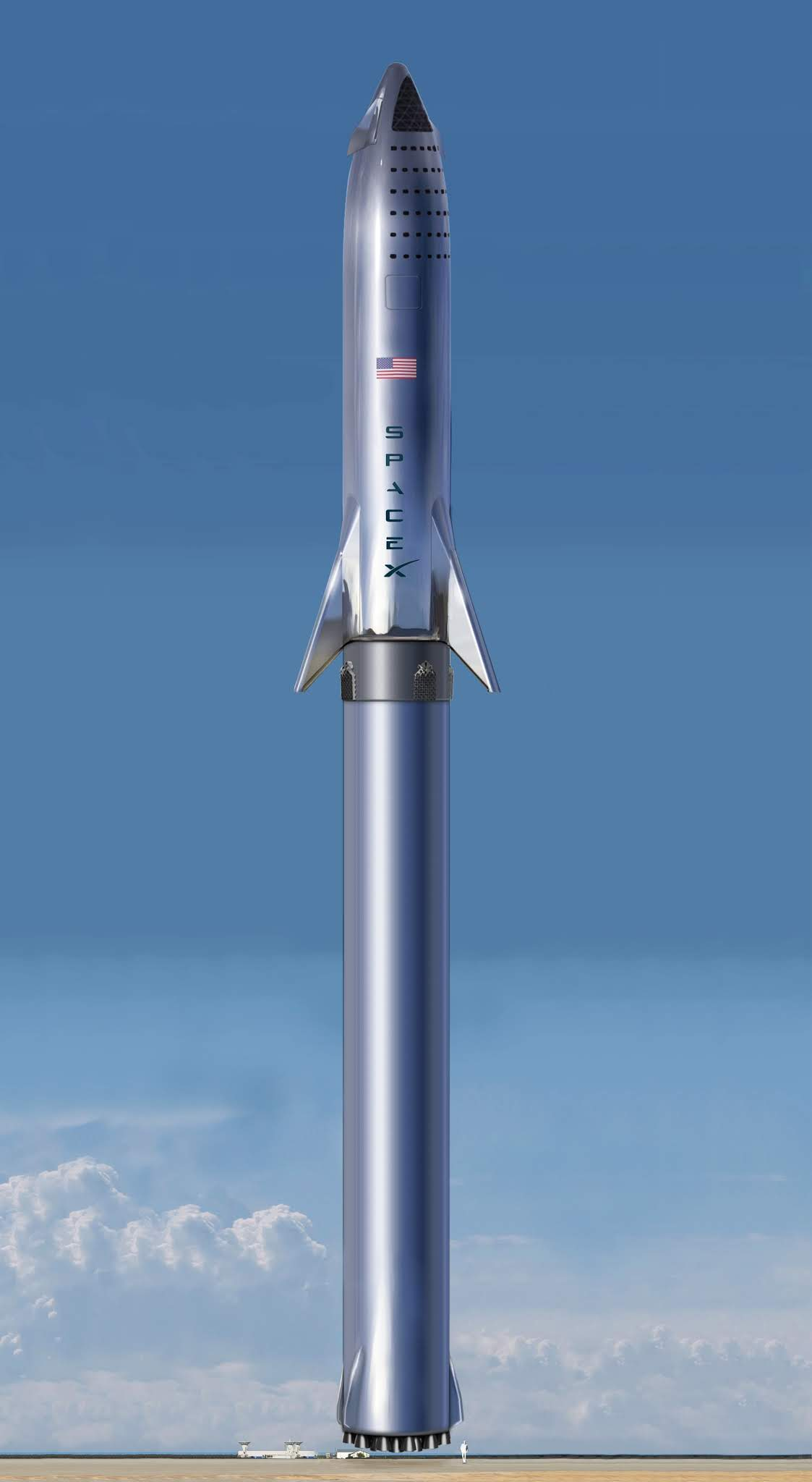 SpaceX+prototype+stainless+steel+Starshi