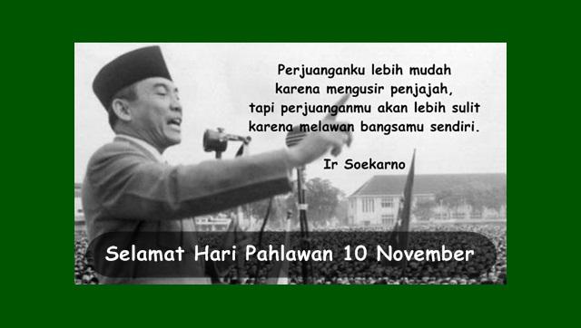 Kartu Ucapan Selamat Hari Pahlawan 10 November Terbaru 2017