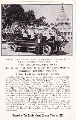 1909 horseless carriage bus tour