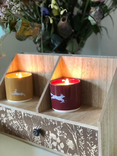 Update your home for Autumn with candles, throws, letter holders, wooland animal themed decor from Sainsburys Home Autumn/Winter collection 2018